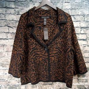 Josephine Chaus | Animal Print Sweater Jacket